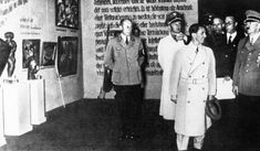 The Nazis removed over 16,000 works of modern art from museums in Germany.650 of these works, taken from over thirty museums, were selected for a public exhibit, Entartete Kunst (Degenerate Art). The goal of the exhibit was to increase public revulsion for art that was presumably contaminating German culture. The exhibit was wildly popular and was seen by nearly three million viewers.