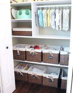 nursery closet organization. I love love love being organized....