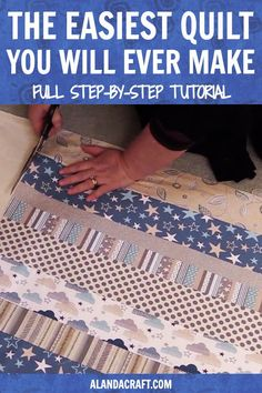 Fantastic Absolutely Free easy sewing for beginners Strategies Super easy beginners quilt tutorial. Free full step-by-step video AND written instructions. Easy t Quilting For Beginners, Quilting Tips, Quilting Tutorials, Machine Quilting, Quilting Projects, Sewing Tutorials, Sewing Tips, Sewing Hacks, Baby Quilt Tutorials