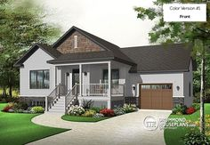 Plan 18267BE: Simply Simple One Story Bungalow | Bungalow and Roof on large contemporary home designs, large traditional home designs, large cape cod home plans, large cabin homes,