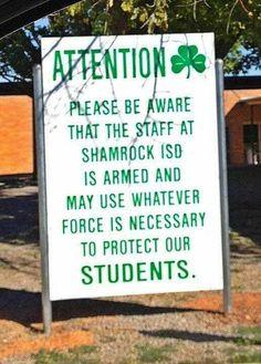 You feelin lucky, Punk?  Shamrock, TX