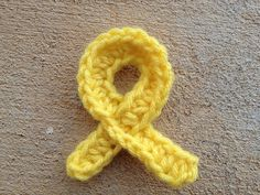 A completed cancer awareness ribbon for sarcoma- use pink for breast cancer, or peach for uterine cancer. Easy and quick!