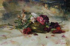Crimson Royale by John McCartin Oil ~ 23cm x 34cm