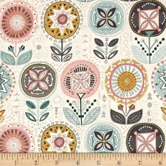 Designed by The Henley Studio for Andover Fabric, this cotton print fabric is perfect for quilting, apparel and home decor accents. Colors include pink and white.