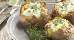 Cartofi la gratar, cu sos delicios si voie-buna! Lidl, Baked Potato, Bbq, Good Food, Potatoes, Baking, Ethnic Recipes, Barbecue, Bread Making