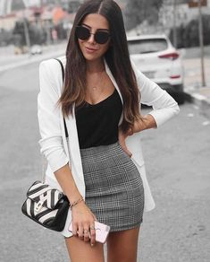 45 Best Fashion Outfit Ideas For Women Summer Outfits Winter Outfits Autumn Outfit Spring outfits School College Office Party outfits For Women - Fashion Crest Party Outfits For Women, Cute Casual Outfits, Girly Outfits, Mode Outfits, Formal Outfit For Teens, Cute Outfits With Skirts, Mini Skirt Outfits, Summer Formal Outfits, Semi Formal Outfits