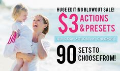 WOW! ★ $3 Actions and Presets! ★ TODAY ONLY! Get select sets of actions and presets for just $3 per set! Use code ACTION3 at checkout! This sale will end tomorrow at 2pmEST.