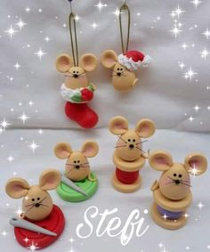 Image gallery – Page 434667801534714411 – Artofit Polymer Clay Ornaments, Cute Polymer Clay, Cute Clay, Fimo Clay, Polymer Clay Projects, Polymer Clay Creations, Ornament Crafts, Christmas Ornament, Fondant Animals
