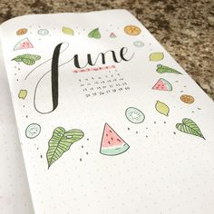 Very excited for June!! What's your theme? . . . . . . . . . . . . . . . . . . . { #bulletjournal #journal #bullet #gridjournal #grid…