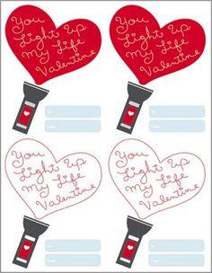 Light Up Valentines + Free Printable PDF |