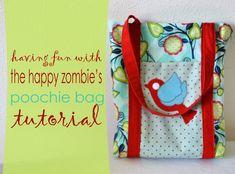 The Happy Zombie's poochie bag tutorial