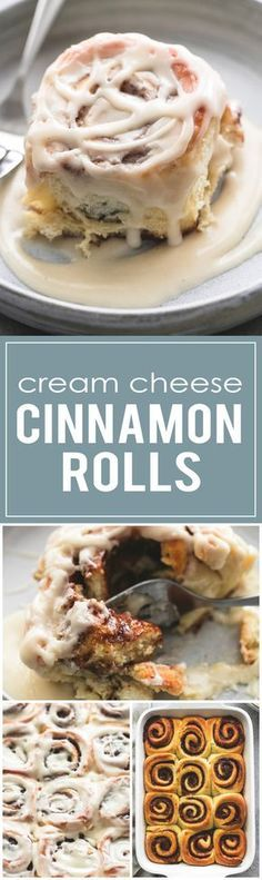 Easy One Hour Cream Cheese Cinnamon rolls are extra soft, super fluffy, and more flavorful - and they're ready in just 60 minutes! | lecremedelacrumb.com
