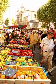 Market in Aix en Provence, France