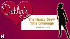 The Nancy Drew Title Challenge! #NancyDrew #YouTube #HerInteractive