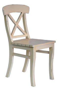 "Crafted Home Helix Traditional Chair, 19"" Length by 20"" Width by 35"" Height, Off-White"
