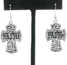 Faith Cross Earrings