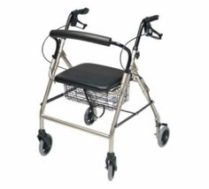 "Brand New Walkabout Wide Four Wheel Rollator W/ Seat And Basket, Aqua by GF Health. $138.21. The Lumex Walkabout Wide Four-Wheel Rollator offers a lightweight and affordable solution with now MORE added comfort. Designed with a wider aluminum frame, this lightweight rollator now offers a width inside the handgrips of 18.5"" providing more room than that of traditional rollators without having to go to a bariatric model. Weighing only 16 lbs, the rollator also suppo..."