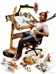 Ilustração por Eduardo Schaal http://designartes.com.br/artes/ilustrador-brasileiro-surpreendente/