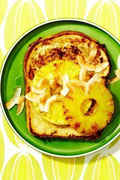 Tiramisu French toast, gluten-free French toast, and a tropical ...