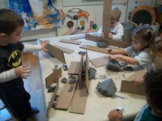 combining cardboard and clay