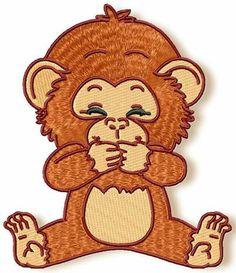 Cute Baby Chimpanzee www.pamelasembroidery.com