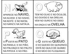 """Ótimo para trabalhar cada letra do alfabeto imprimindo estes textinhos ilustrados. (Clique nas imagens para ampliá-las) """"Considerai os lírio..."""