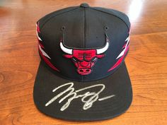 Michael Jordan Chicago Bulls Hand Signed Autographed Throwback Cap Hat