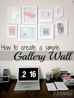 how to hang 5 8x10 picture frames on the wall | How to DIY a Gallery Wall | via Framed Frosting blog