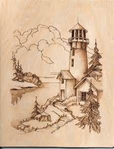 Lighthouse Pyrography Graphics