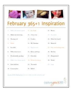 February prompts from Katrina Kennedy