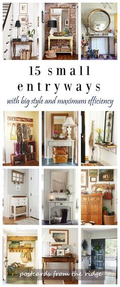 Postcards from the ridge: 15 fresh ideas for small entryways small entryway decor, small Small Entrance, House Entrance, Halls Pequenos, Small Entryways, Diy Casa, Small Apartments, Interior Design Living Room, Home Projects, New Homes