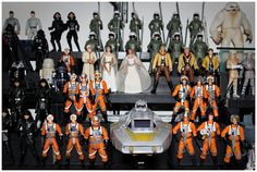 Leonardo DiCaprio's Star Wars figure collection.