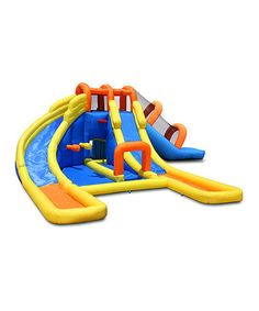 Loving this Super Tunnel Slide Waterpark Set on #zulily! #zulilyfinds