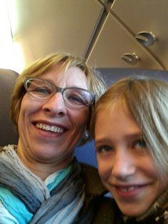 Mijn lieve dochter en ik.