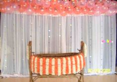 Naming ceremony special decoration - birthday at party hall in Bangalore Naming Ceremony Decoration, Ceremony Decorations, Flower Decorations, Sweet 16 Party Decorations, Birthday Decorations, Birthday Party Planner, Birthday Celebration, Cradle Decoration, Naming Ceremony Invitation