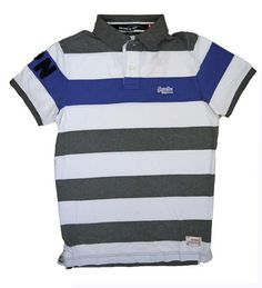 Superdry Mens Hoopstripe Hit Polo -Fluro Marine Stripe Mix just in at www.moyheelandtraders.com £39.95 with free uk p&p. Gorgeous soft feel cotton polo that looks great with jeans and chinos.