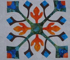 Block 2 - Applique Affair - Edyta Sitar. (Laila Nelson)