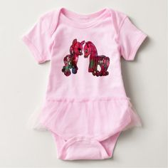 #cute #baby #bodysuits - #Two cute pink ponies baby bodysuit