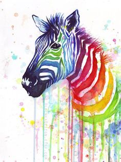 Zebra-Kunst Aquarell-Malerei Kunstdruck von OlechkaDesign auf Etsy You are in the right place about home paintings red Here we offer you the most beautiful pictures about the home paintings white you Arte Zebra, Zebra Kunst, Zebra Art, Watercolor Flower, Watercolor Animals, Watercolor Paintings, Colorful Paintings, Art Paintings, Zebra Painting