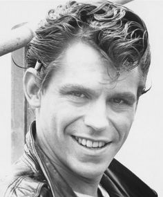 "The ""ducktail"" hairstyle, cigarette behind the ear, and a leather jacket…those were my kinda guys!"