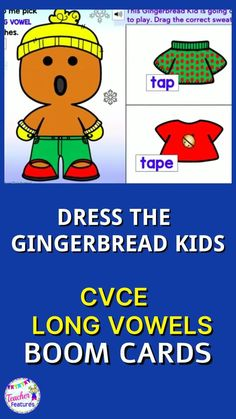 Use Christmas Boom Cards to practice CVCe Long Vowels