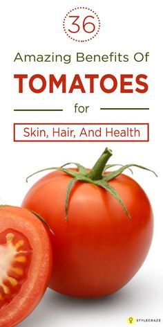 Tomato is one of the most used ingredient in Indian cooking. Here is what all you need to know about amazing health benefits of tomatoes for skin, hair & health Tomato Benefits, Health Benefits Of Tomatoes, Tomato For Skin, Hair Design For Wedding, Anti Oxidant Foods, Skin Food, How To Treat Acne, Hair Health, Healthy Skin