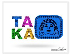 Logotipo TAKA 😘 🍃 🌻 💖 #claudiaramirez #diseñografico #graphicdesign #logotipo #logo #ilustracion #illustration #Xochipilli