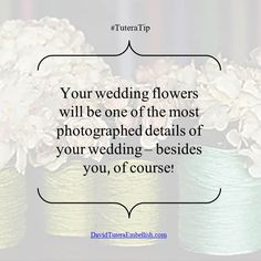 It's important to pick wedding #centerpieces and bouquets that truly fit your wedding style.