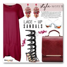 """Strapped In: Lace-Up Sandals"" by angelstar92 ❤ liked on Polyvore featuring Christian Louboutin, Normann Copenhagen, BangGood, contestentry, laceupsandals and PVStyleInsiderContest"