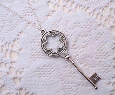 Items similar to Skeleton Key Pendant Necklace on Etsy Under Lock And Key, Key Lock, Good Luck Prayer, Key Pendant, Pendant Necklace, Key Jewelry, Unique Jewelry, Master Key, Antique Keys