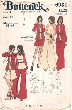 Butterick 6931 Mary Quant. I had this pattern and it was one of my favorite outfit I made.