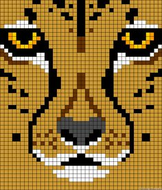 hope your up for a challenge Tapestry Crochet Patterns, Bead Loom Patterns, Beading Patterns, Cross Stitch Patterns, Perler Bead Art, Perler Beads, Crochet Pixel, Modele Pixel Art, Mochila Crochet
