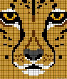 Leopard perler bead pattern