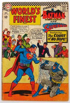 World's Finest Comics #163 Batman Superman DC Comics (1966) FREE Shipping -- Publisher: DC Comics -- Year: 1966 -- Cover Art: Curt Swan -- Grade: 4.5-5.5 (VG+ to FN-) $13.00